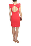 Badgley Mischka Orange Dress with a Bow