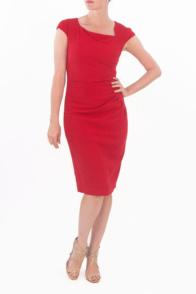 L.K. Bennett Red Davina cocktail dress