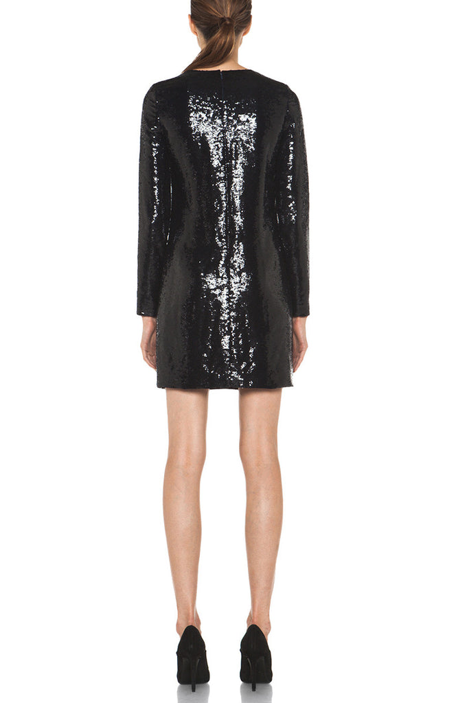 Diane Von Furstenberg-Diane von Furstenberg Menaro Sequined Long-Sleeve Dress