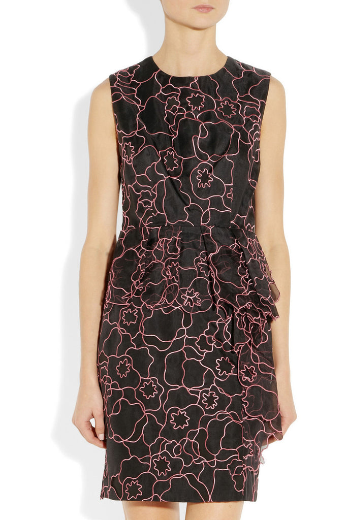 Diane von Furstenberg Leni Interlaced Peplum Dress