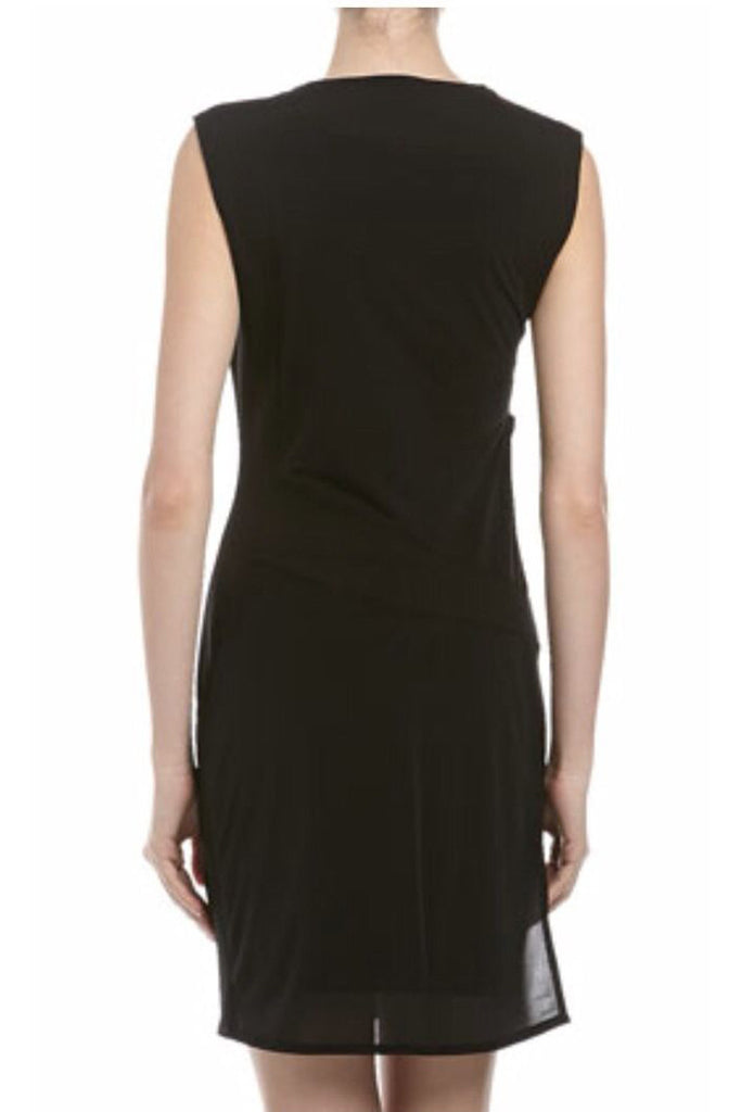 Helmut Lang Square-neck Dress With Seam Detail Black