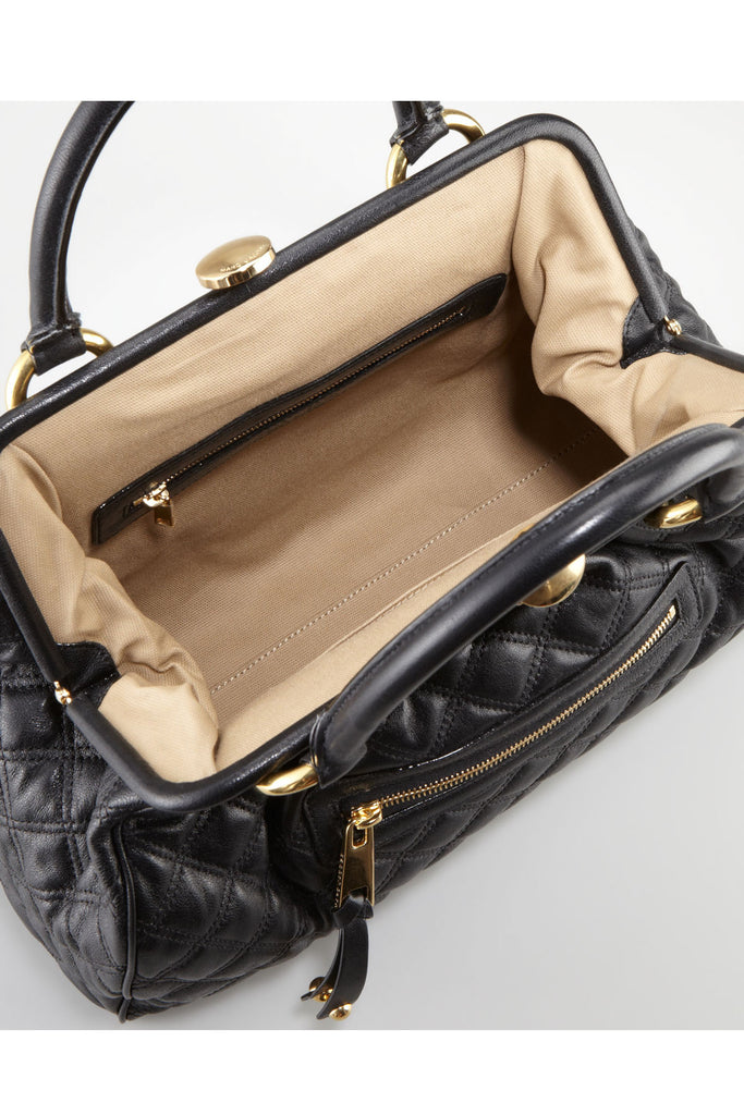 Marc Jacobs-Stam Quilted Leather Satchel Bag