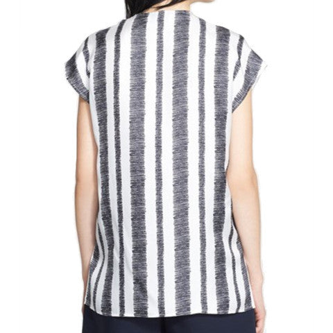 3.1 Phillip Lim-Striped Silk Tunic Top