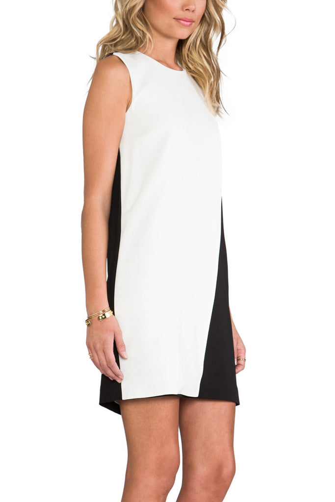 Theory Black and White Colorbock Randla C Dress