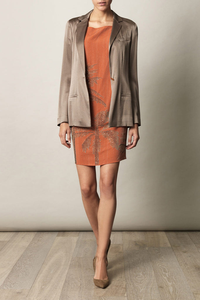 Diane Von Furstenberg- Orange Cordie dress