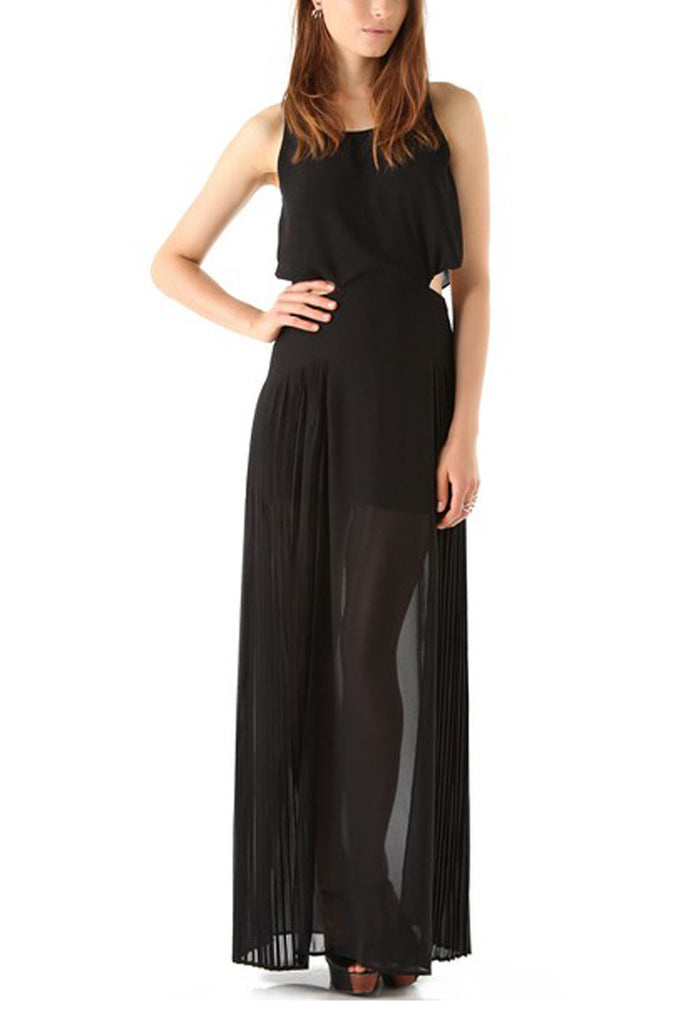 findersKEEPERS Let It Rain Open Sheer Back Maxi Dress