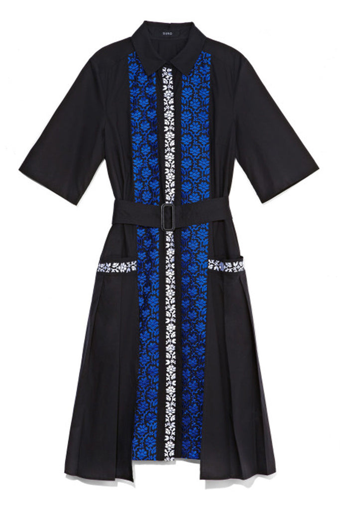 Suno Blue Loose Side Panel Dress