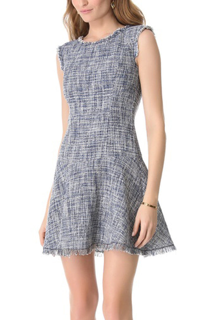 Rebecca Taylor Tweed Dress - Frayed Fit & Flare