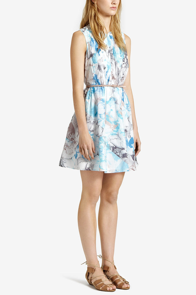 Reiss Blue Luciana Printed Day Dress