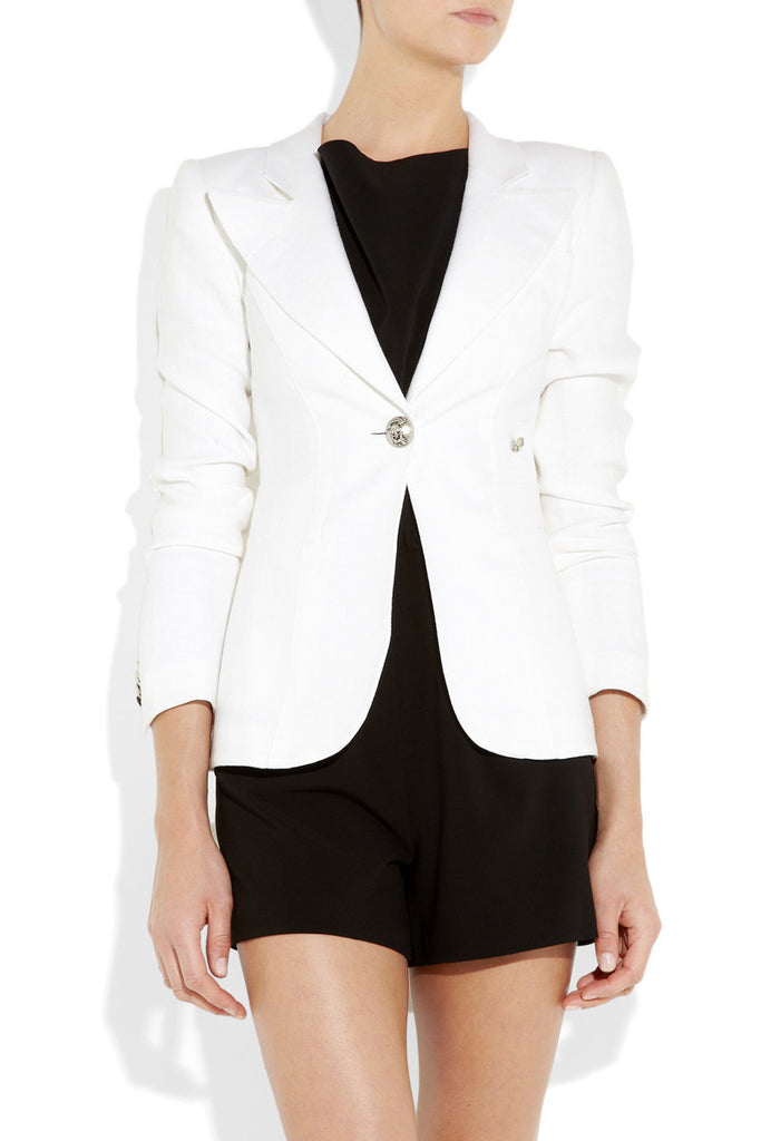 Smythe white linen jacket
