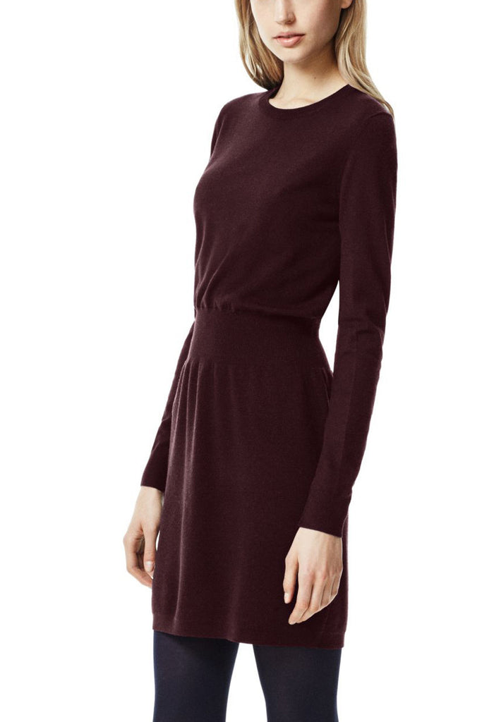 Theory Long Sleeve Red Mertyle Dress in Evian Stretch Wool Blend