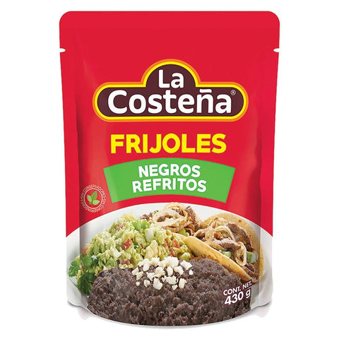 LA COSTEÑA BAG POUCH PACKED REFRIED BEANS BLACK 15.16OZ (430GR) / 12