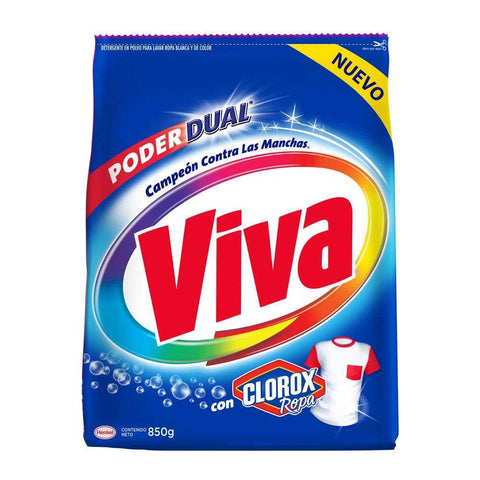 VIVA DETERGENT POWDER WITH CLOROX 29.98 OZ (850GR) / 22
