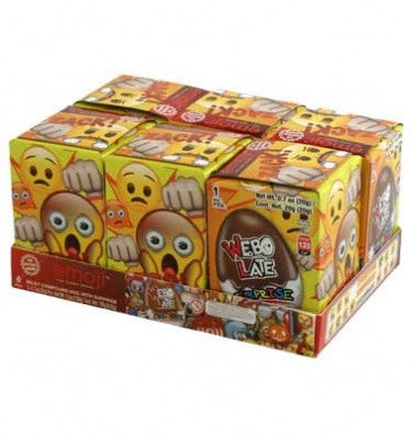 2354 CHOCOLATE EGG SURPRISE CANDY WEBO LATE EMOJI 18X6