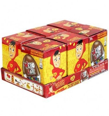 02384 CHOCOLATE EGG SURPRISE CANDY WEBO LATE EL CHAPULIN 1 / 6