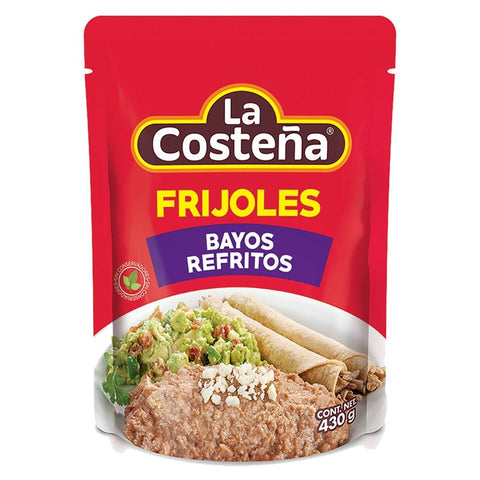LA COSTEÑA BAG POUCH PACKED REFRIED BEANS BAYO 15.16OZ (430GR) / 12