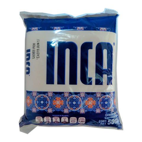 INCA VEGETABLE SHORTENING 17.63OZ (500GR)/24