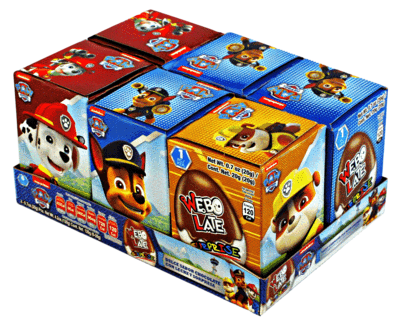 CHOCOLATE EGG SURPRISE CANDY WEBO LATE PAW PATROL 18X6