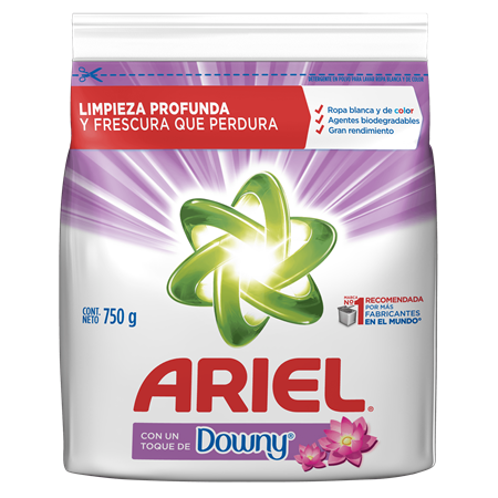 ARIEL DETERGENT POWDER WITH DOWNY 31.74OZ (750GR) / 12