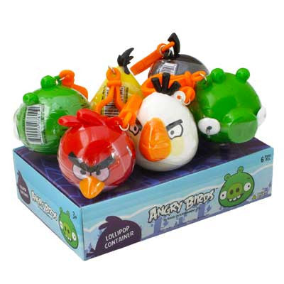 ANGRY BIRDS LOLLIPOP TOY CANDY 6 PACK DISPLAY - Brand Name Distributors Houston