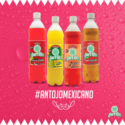 BARRILITO SOFT DRINK MIX (PINEAPPLE, FRUIT PUNCH, PEACH y APPLE) 25.36 OZ (750ML) / 24