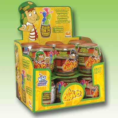 CANDY CONTAINER BARRIL EL CHAVO 12 PACK (12x 12)