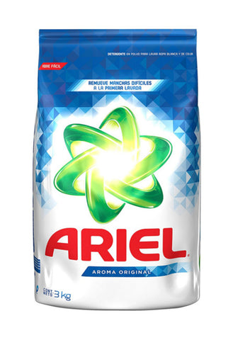 ARIEL DETERGENT POWDER REGULAR CC 105.82 OZ (3KG) / 6