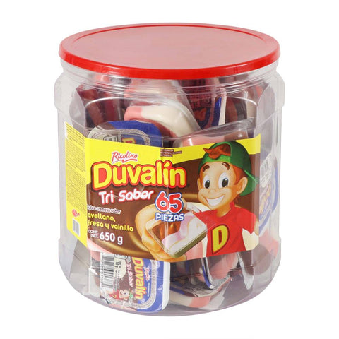 4024 DUVALIN TRI HAZELNUT, STRAWBERRY, VANILLA 22.92 OZ (650GR) 1 / 65