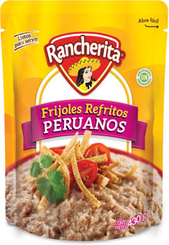 RANCHERITA BAG POUCH PACKED BEANS LIMA REFRIED 15.16OZ (430GR) / 24