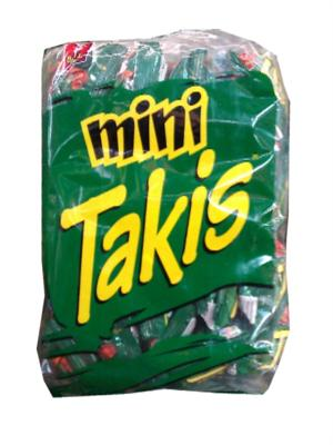 CORN CHIPS BARCEL MINI TAKIS GREEN ORIGINAL 30.86OZ (875GR) 25 PZ / 3