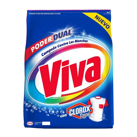 VIVA DETERGENT POWDER WITH CLOROX 17.63 OZ (500G) / 18