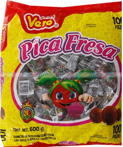 1012 VERO PICA STRAWBERRY - FRESA 21.16 OZ (600GR) 1 / 100