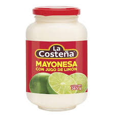 MAYONNAISE LA COSTEÑA WITH LEMON JUICE 13.58 OZ (385 GR) / 12
