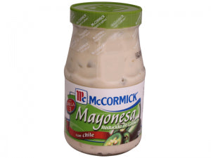 MAYONNAISE McCORMIICK WITH CHILI (CHILE) JALAPEÑO 14.46OZ (410GR) / 12