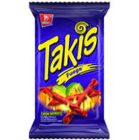 CORN CHIPS BARCEL TAKIS FIRE (FUEGO) 1.97OZ (56GR) / 48