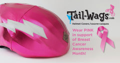 Breast Cancer PINK  helmet cover