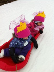 2 Princesses on Toboggan