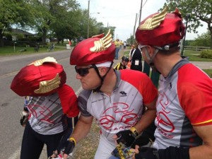Blaze in Ride to Conquer Cancer