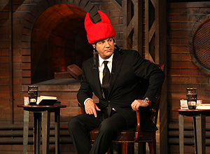 Kevin O'Leary wearing the Tail Wags Red Devil helmet cover!