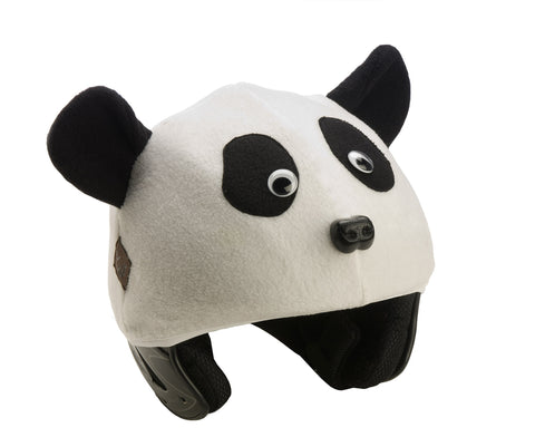 Panda Helmet Cover - Girls & Boys , Child - Tail Wags Helmet Covers Inc, Tail Wags Helmet Covers  - 1
