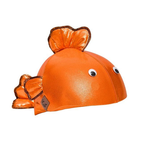 Goldfish Helmet Cover - Girls, Boys & Adult , One Size - Tail Wags Helmet Covers Inc, Tail Wags Helmet Covers  - 1