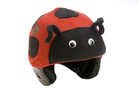 Ladybug Helmet Cover - Girls & Boys , Child - Tail Wags Helmet Covers Inc, Tail Wags Helmet Covers  - 1
