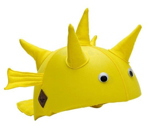 Puffer Fish Helmet Cover - Girls, Boys & Adults , One Size - Tail Wags Helmet Covers Inc, Tail Wags Helmet Covers  - 1