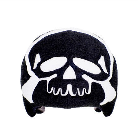 Skull & Crossbones Helmet Cover (black) - Adult , Adult - Tail Wags Helmet Covers Inc, Tail Wags Helmet Covers