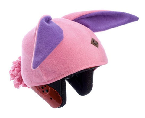 Bunny Rabbit Helmet Cover (Pink) - Girls , Child - Tail Wags Helmet Covers Inc, Tail Wags Helmet Covers  - 1