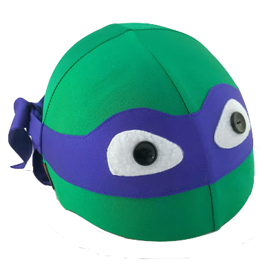 Bandit Helmet Cover (Purple) - One Size , One Size - Tail Wags Helmet Covers Inc, Tail Wags Helmet Covers