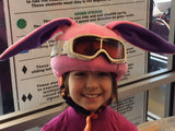 Bunny Rabbit Helmet Cover (Pink) - Girls