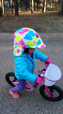 Sun Lidz Helmet Cover - Love is in the Air! , One Size - Tail Wags Helmet Covers, Tail Wags Helmet Covers  - 4