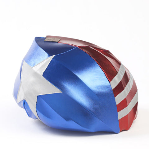 Stars & Stripes  Nite Brite - Girls, Boys & Adults , One Size - Tail Wags Helmet Covers, Tail Wags Helmet Covers  - 1