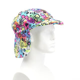 Sun Lidz Helmet Cover - Flower Power , One Size - Tail Wags Helmet Covers, Tail Wags Helmet Covers  - 2